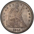 1844 Seated Liberty Silver Dollar