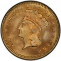 1876 Large Head Indian Princess Gold Dollar
