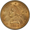 1853 Liberty Head $10 Gold Eagle