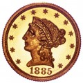 1885 Liberty Head $2.50 Gold Quarter Eagle Coin