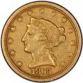 1865 Liberty Head $2.50 Gold Quarter Eagle Coins