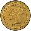 1859 Large Head Indian Princess Gold Dollar