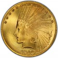 1910 Indian Head Gold $10 Eagle