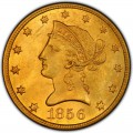 1856 Liberty Head $10 Gold Eagle