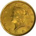 1849 Liberty Head Gold $1 Coin