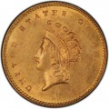 1856 Small Head Indian Princess Gold Dollar