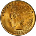 1915 Indian Head Gold $10 Eagle