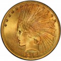1914 Indian Head Gold $10 Eagle