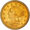 1856 Liberty Head $2.50 Gold Quarter Eagle Coin