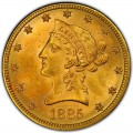 1885 Liberty Head $10 Gold Eagle