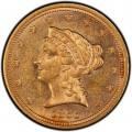 1866 Liberty Head $2.50 Gold Quarter Eagle Coin