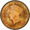 1877 Large Head Indian Princess Gold Dollar