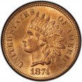 1874 Indian Head Pennies