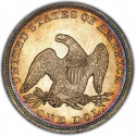 1854 Seated Liberty Silver Dollar Values