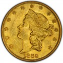 1859 Liberty Head Double Eagle