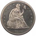 1858 Seated Liberty Silver Dollar