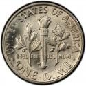 1953 Roosevelt Dime Value