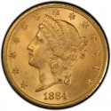 1884 Liberty Head Double Eagle