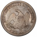 1848 Seated Liberty Silver Dollar Values
