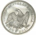1860 Seated Liberty Silver Dollar Values