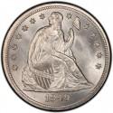 1849 Seated Liberty Silver Dollar