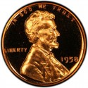 1958 Lincoln Wheat Pennies