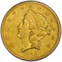 1858 Liberty Head Double Eagle
