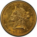 1848 Liberty Head $10 Gold Eagle