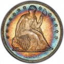 1854 Seated Liberty Silver Dollar
