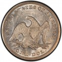 1855 Seated Liberty Silver Dollar Values