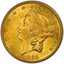 1860 Liberty Head Double Eagle