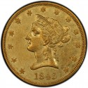 1843 Liberty Head $10 Gold Eagle