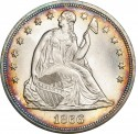 1866 Seated Liberty Silver Dollar