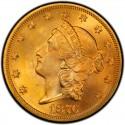 1876 Liberty Head Double Eagle