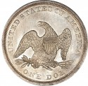 1841 Seated Liberty Silver Dollar Values
