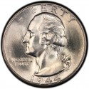 1944 Washington Quarter Value
