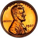 1937 Lincoln Wheat Pennies