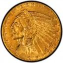 1915 Indian Head $5 Half Eagle