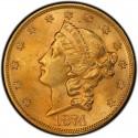 1874 Liberty Head Double Eagle