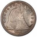 1848 Seated Liberty Silver Dollar