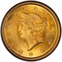 1850 Liberty Head Gold $1 Coin