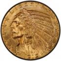 1912 Indian Head $5 Half Eagle