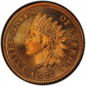 1885 Indian Head Pennies