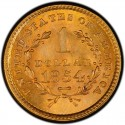 1854 Liberty Head Gold $1 Coin Value