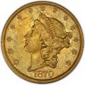 1870 Liberty Head Double Eagle