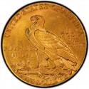 1916 Indian Head $5 Half Eagle Value