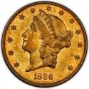1886 Liberty Head Double Eagle