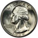 1939 Washington Quarter Value