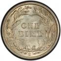 1900 Barber Dime Value