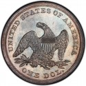 1863 Seated Liberty Silver Dollar Values